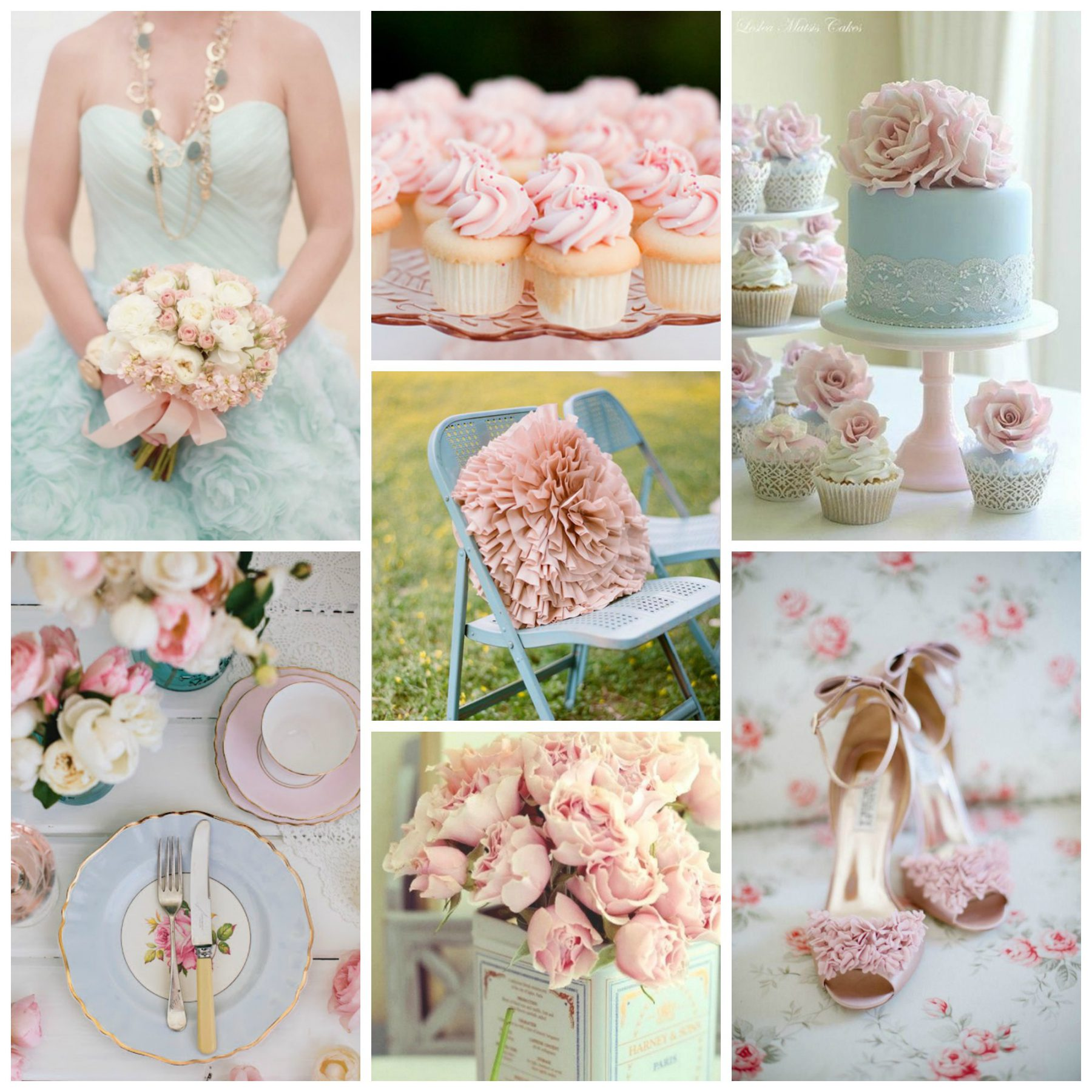 Color Palette Idea Pale Pink Pale Blue Burgh Brides