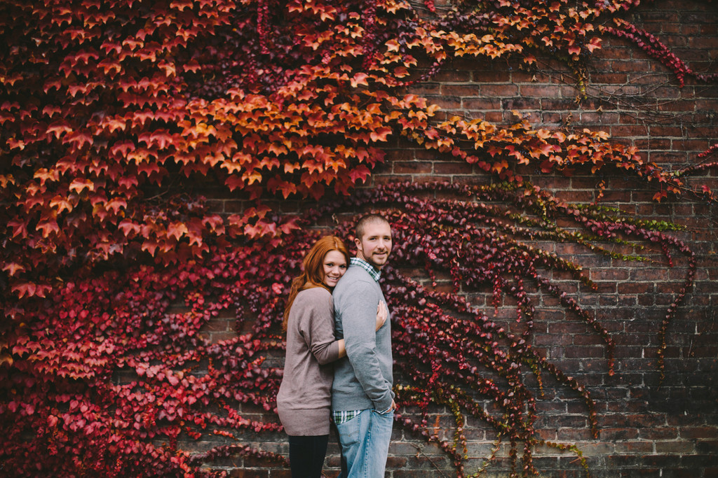 Fall Foliage Pittsburgh Engagement Session by Steven Dray Images Featured on Burgh Brides