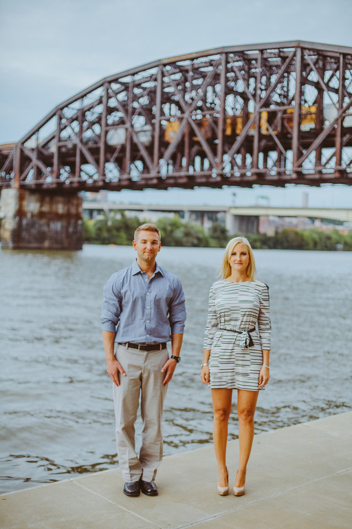Pittsburgh Waterfront Engagement Session from Steven Dray Images Featured on Burgh Brides