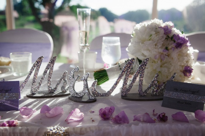 Girly Purple & Silver Pittsburgh Wedding at South Hills Country Club from Ann Louise Photography Featured on Burgh Brides