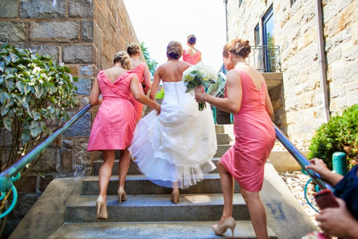 Classic, Coral Pittsburgh Wedding at the Longue Vue Club by Milla C Photography Featured on Burgh Brides