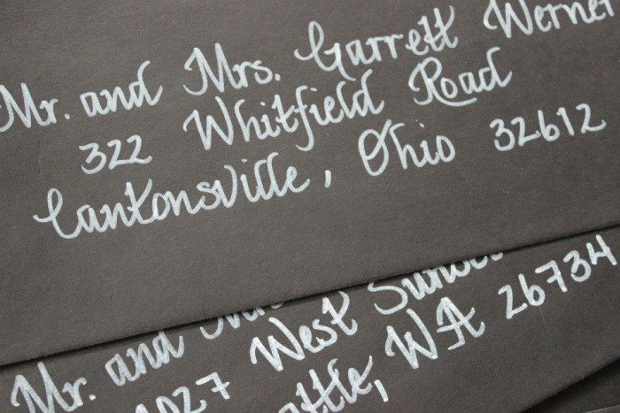 Burgh Brides Featured Vendor: LMM Calligraphy