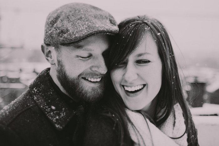 Snowy, Colorful Pittsburgh Engagement Session - Steven Dray Images