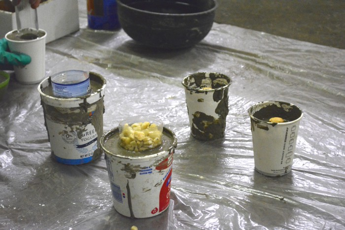 Burgh Brides DIY: Cement Vases & Candle Holders