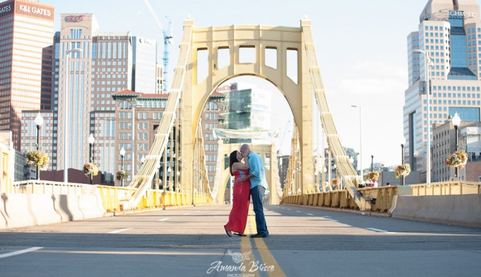 Strip District & North Shore Engagement Session by Amanda Brisco Photography Featured on Burgh Brides