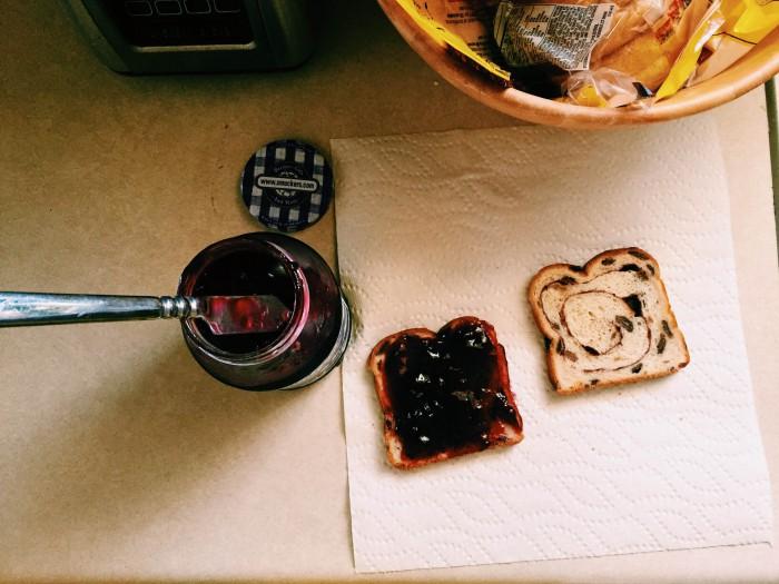 Note to self: must try raisin bread PB&J