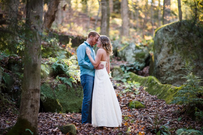 Woodsy Waterfall Pittsburgh Engagement Session by Michael Will Photography Featured on Burgh Brides