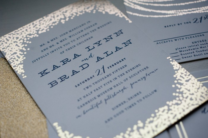 Chic Navy Blue & Gold Wedding by Leeann Marie, Wedding Photographers Featured on Burgh Brides
