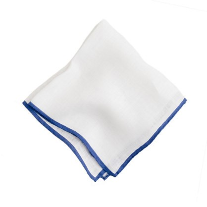 Monogrammed Pocket Square from J.Crew - Second Anniversary Gift Ideas from Burgh Brides