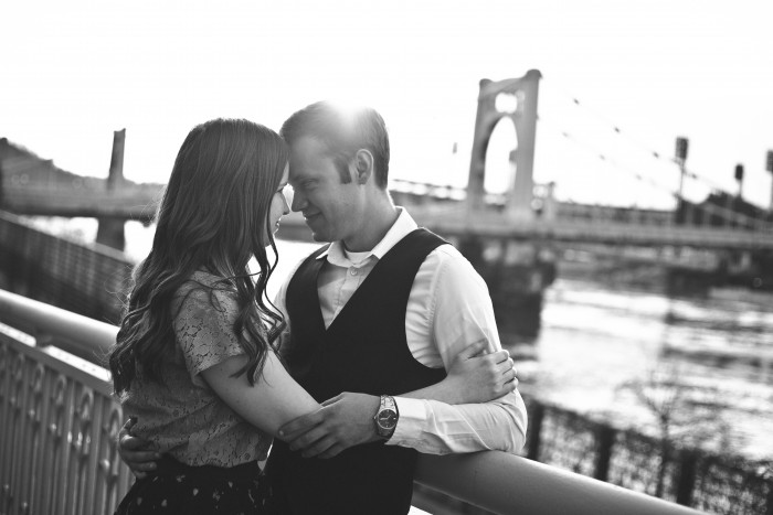 Retro 1950s Inspired Pittsburgh Engagement Session by Desiree Deli Photography Featured on Burgh Brides
