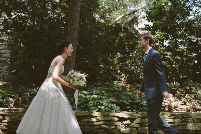 Woodsy Organic Pittsburgh Wedding by Hot Metal Studio Featured on Burgh Brides