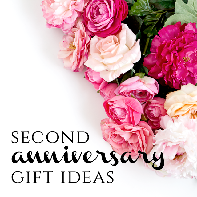 Second Anniversary Gift Ideas from Burgh Brides