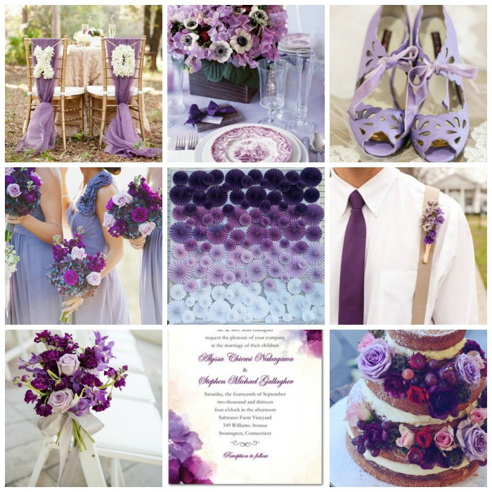 Burgh Brides Color Palette Inspiration - Shades of Purple