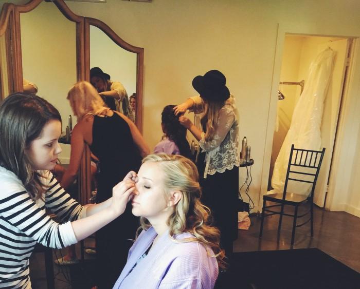 A (Wedding) Day in the Life of: Hannah Conard Beauty