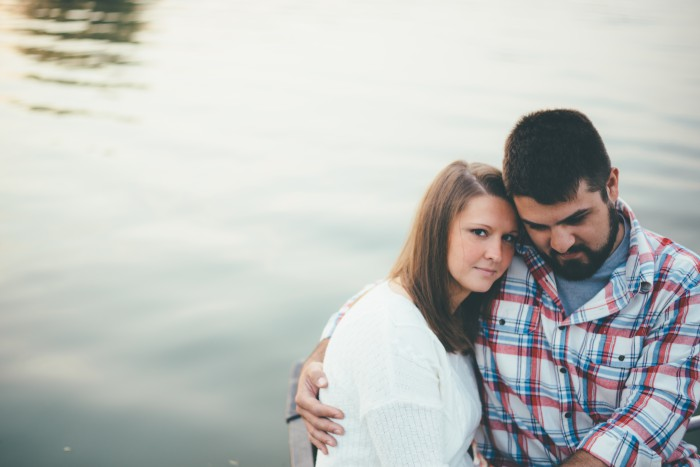 Sunrise Lakeside Pittsburgh Engagement Session from Kristland Lee Photography Featured on Burgh Brides