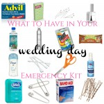 What to Include in Your Wedding Day Emergency Kit from Burgh Brides