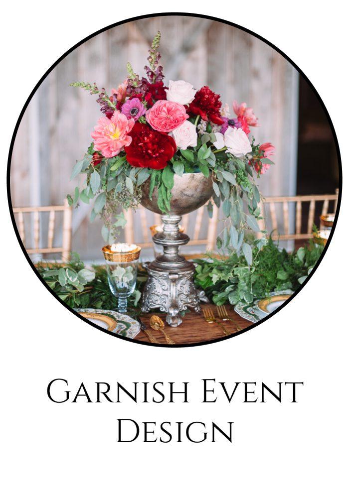 Burgh Brides Vendor Guide Member: Garnish Event Design