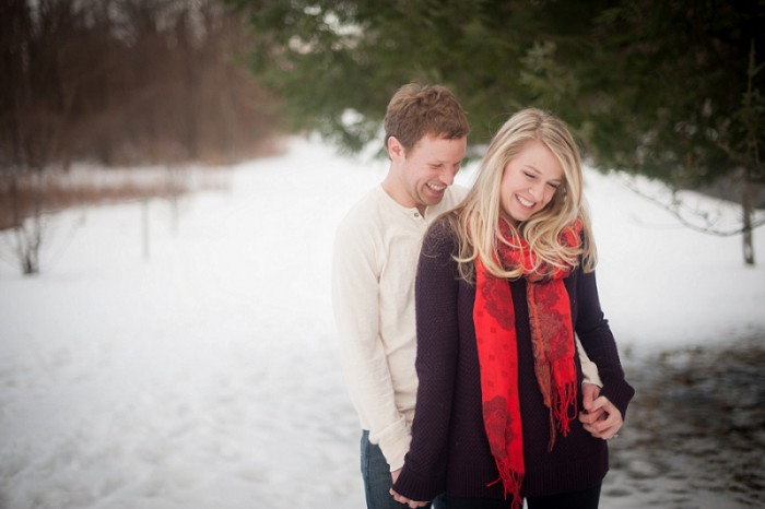Snowy Field Pittsburgh Engagement Session from Meaghan Elliott Photography Featured on Burgh Brides