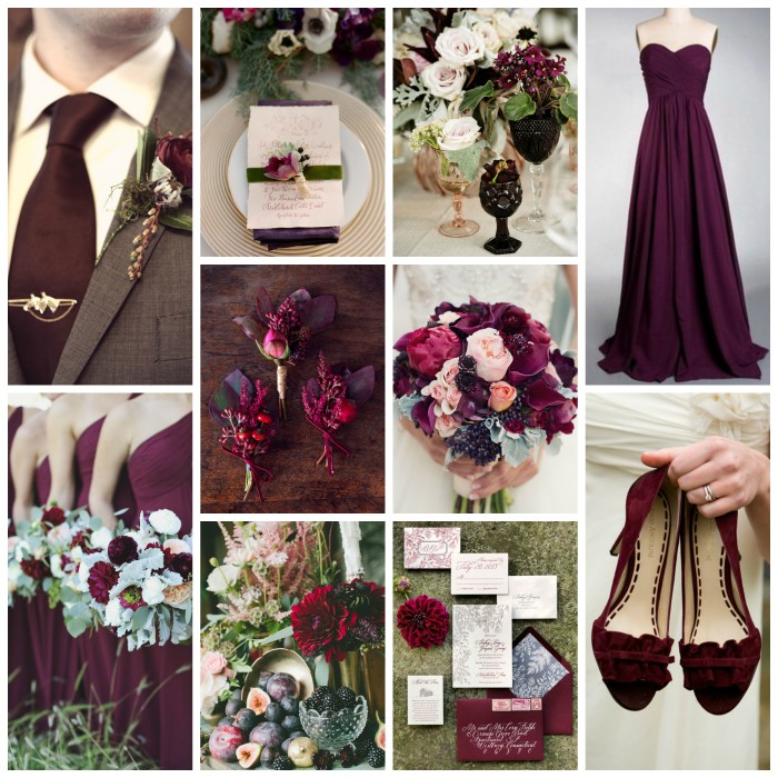 Wedding Ideas And Inspirations: Plum, Marsala, & Sage Green Wedding Inspiration