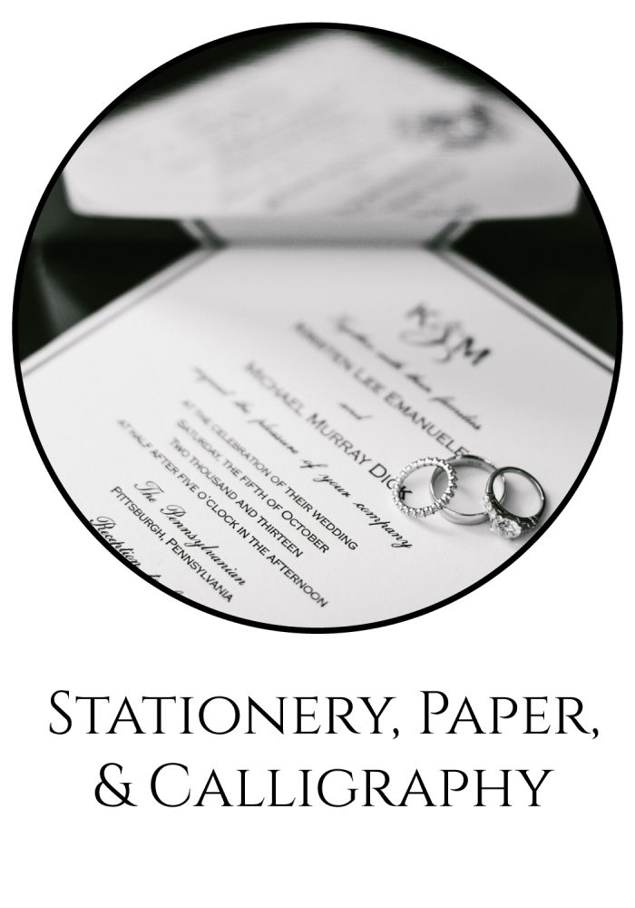 Pittsburgh Wedding Vendors - The Burgh Brides Vendor Guide: Stationery, Paper, & Calligraphy