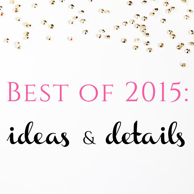 Burgh Brides Best of 2015: Ideas & Details