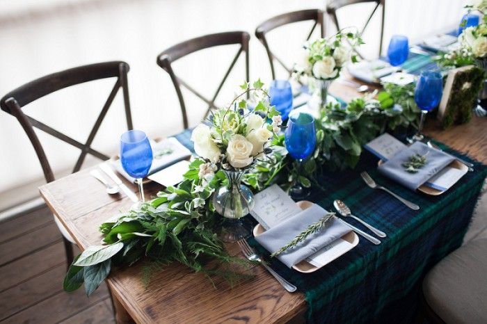 Herbs & Plaid: A Client Tasting & Styled Shoot from Pittsburgh's JPC Event Group by Christina Emilie Photography Featured on Burgh Brides
