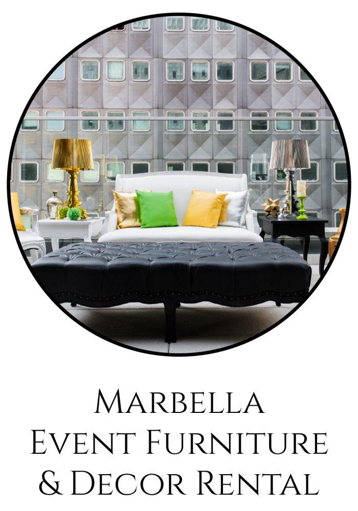 Burgh Brides Vendor Guide Member: Marbella Event Furniture & Decor Rental