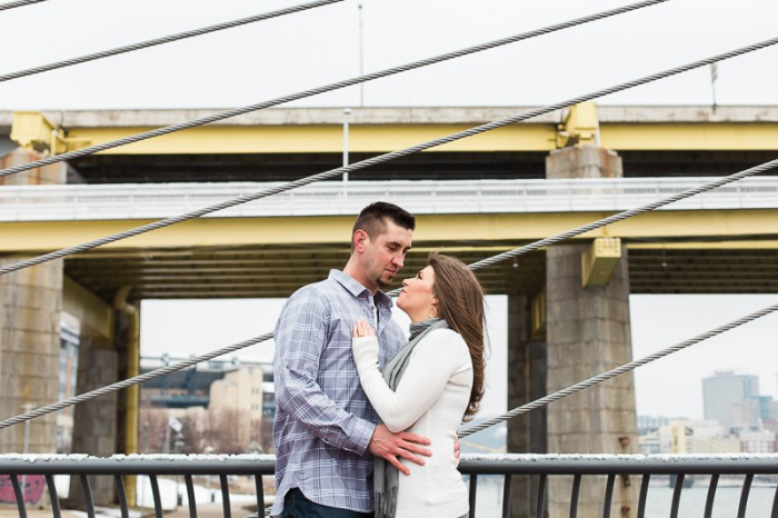 Urban Winter Engagement Session from Breanna Elizabeth Photography Featured on Burgh Brides