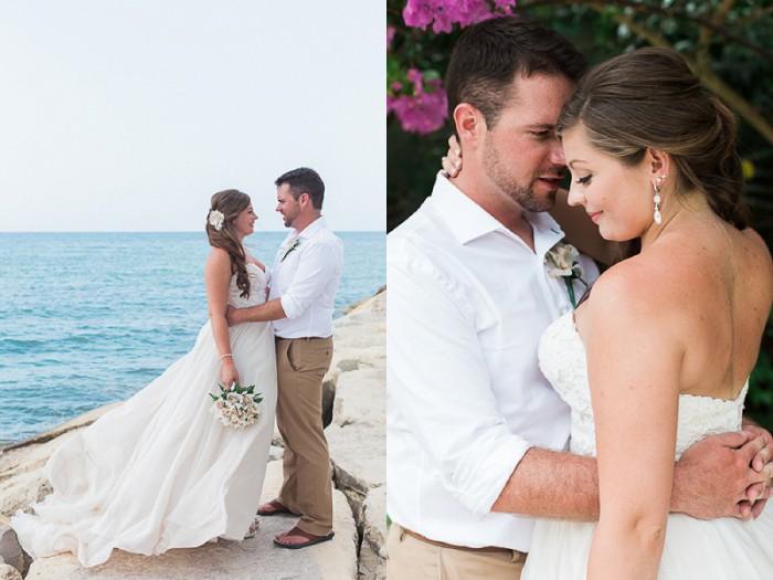Jamaican Beachfront Destination Wedding from Breanna Elizabeth Photography Featured on Burgh Brides
