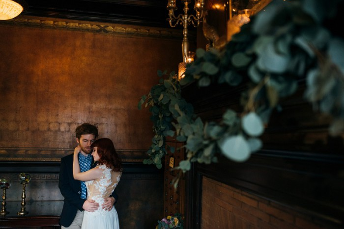 Copper & Jewel Tone Styled Shoot at Pittsburgh's Soldiers & Sailors by Mandy Fierens Photography Featured on Burgh Brides