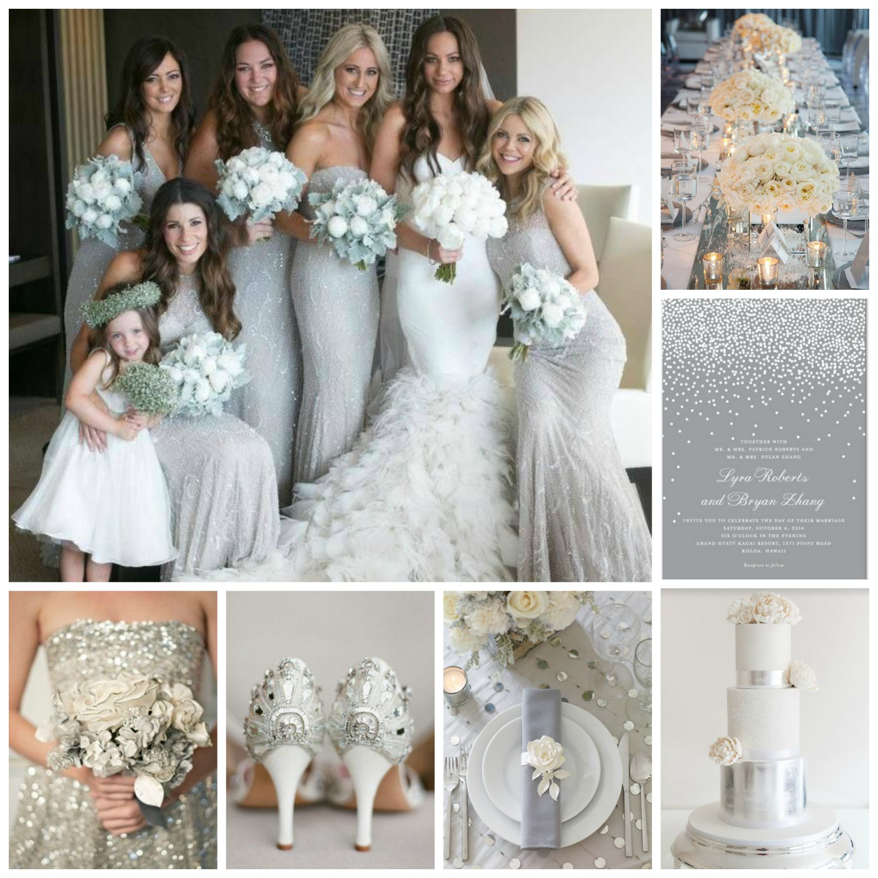 Wedding Ideas And Inspirations: Silver & White Wedding Inspiration