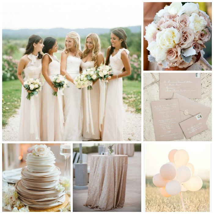 Nude Wedding Inspiration from Burgh Brides