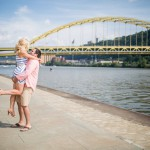 Sweet Summertime Engagement Session at the Point by Lumin Images Featured on Burgh Brides