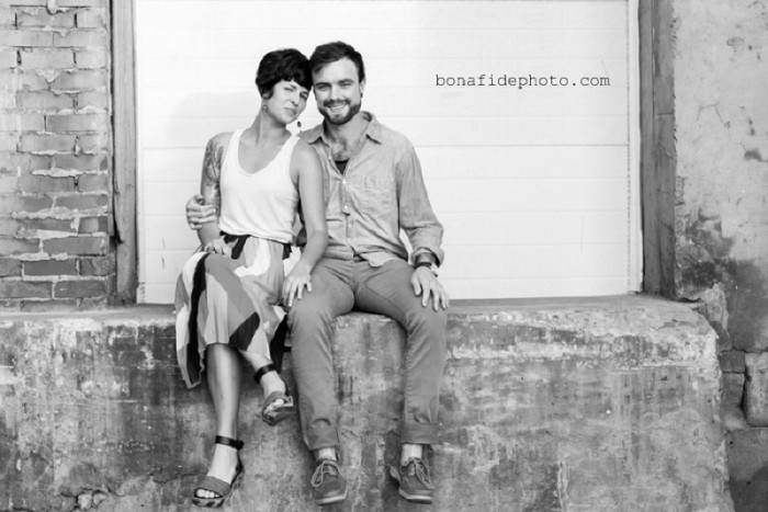 Urban Decay Pittsburgh Engagement Session from Bona Fide Photography Featured on Burgh Brides