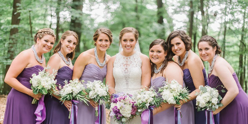 Purple Ombre Wedding at Greystone Fields: Alexis & Brad