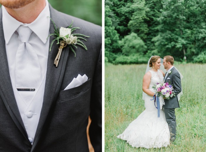 Purple Ombre Pittsburgh Wedding at Greystone Fields by Sky's the Limit Photography Featured on Burgh Brides