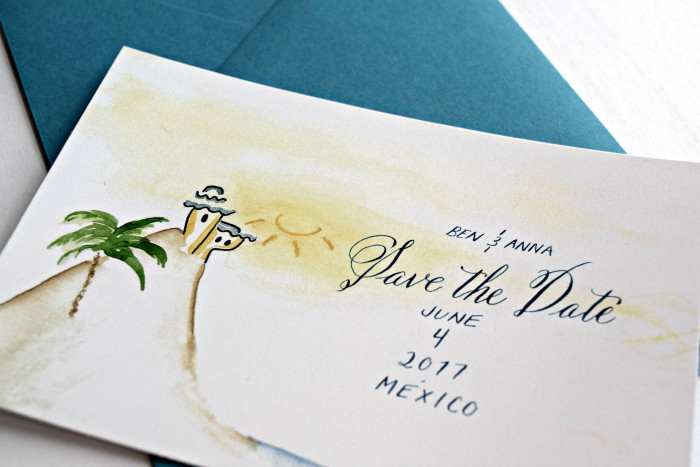 Breaking Down Save the Dates: A Wedding Paper Series from Inky Agnes & Burgh Brides