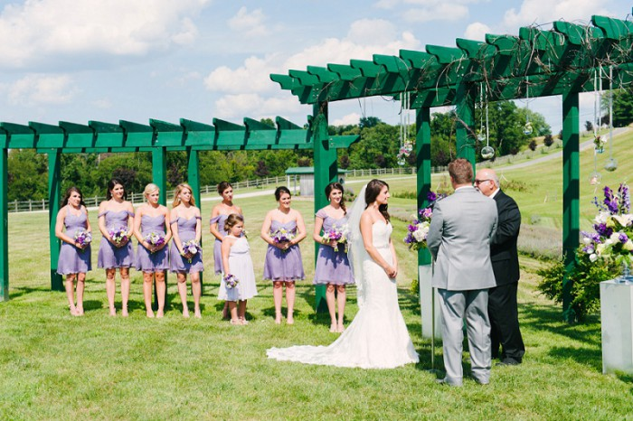 Lavender Shabby Chic Pittsburgh Wedding at Destiny Hill Farm from David Burke Photographer featured on Burgh Brides
