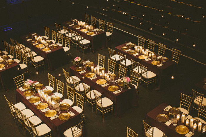 Charming Plum & Gold Pittsburgh Wedding at the New Hazlett Theater from All Heart Photo & Video featured on Burgh Brides
