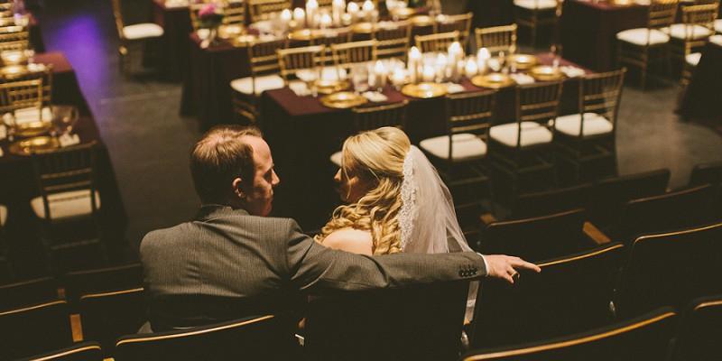 Charming Plum & Gold Wedding at the New Hazlett Theater: Shannon & Aaron