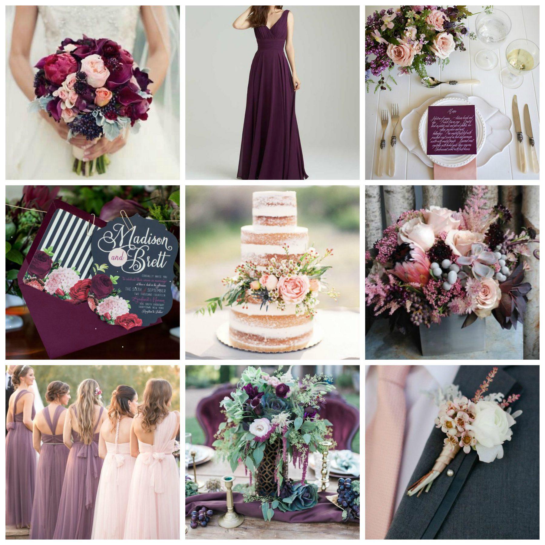 Blush Wedding: Blush & Plum Wedding Inspiration