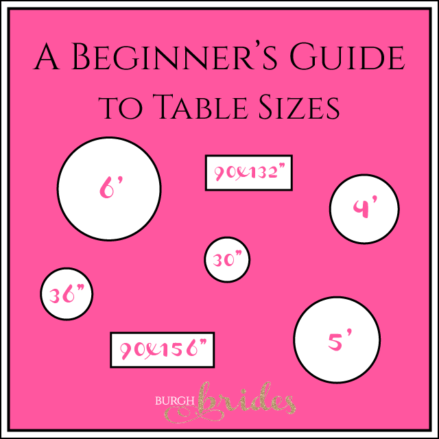A Beginner's Guide to Table Sizes from Burgh Brides