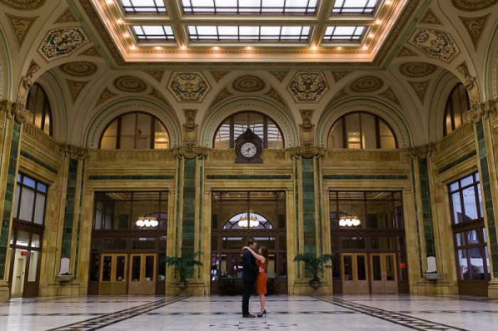 Architecturally Inspired Engagement Session from Breanna Elizabeth Photography featured on Burgh Brides