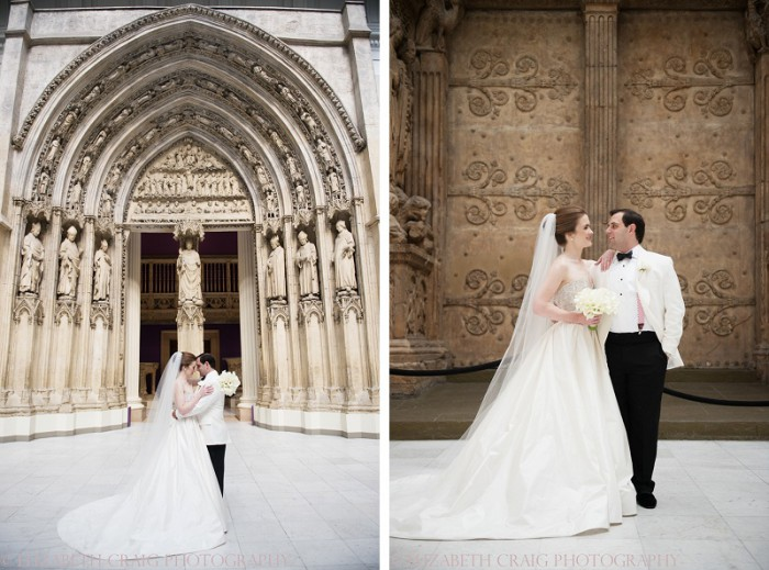 Elegant Black & White Pittsburgh Wedding at the Carnegie Museum from Elizabeth Craig Photography featured on Burgh Brides