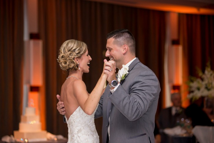 Dazzling Contemporary Pittsburgh Wedding at the Wyndham Grand from SkySight Photography featured on Burgh Brides