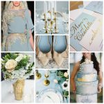 Serenity & Gold Wedding Inspiration from Burgh Brides