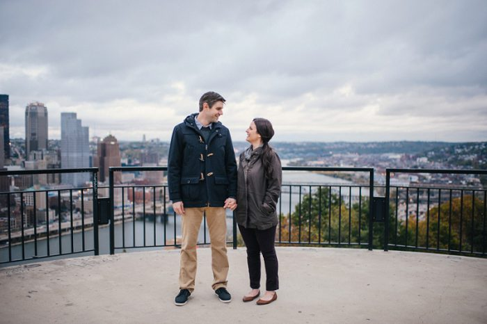 An Engagement Session at Pittsburgh's Most Famous Sites from Ayres Photography featured on Burgh Brides