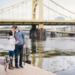 An Engagement Session at Pittsburgh's Most Famous Site from Ayres Photography featured on Burgh Brides