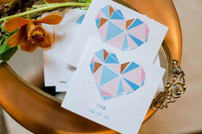 Modern Geometric Styled Shoot from Garnish Event Design and Leeann Marie, Wedding Photographers featured on Burgh Brides