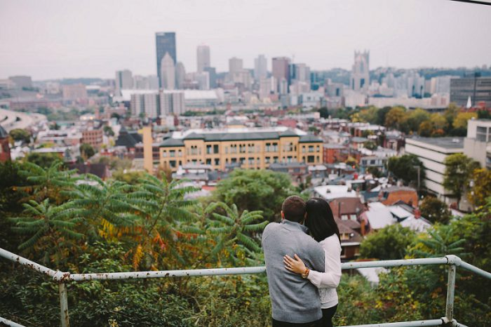 Urban Fall Engagement Session from Steven Dray Images featured on Burgh Brides